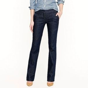 J. Crew Dark Wash City Fit Trouser Jean 8 hemmed